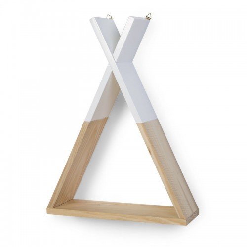 Childhome деревянная полка для вещей Tipi Natural White