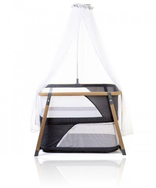 Манеж-кроватка с москитной сеткой Childhome Nacalu Woodlook