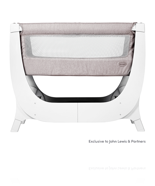 Ліжечко Shnuggle Air Bedside Crib колір Stone Grey