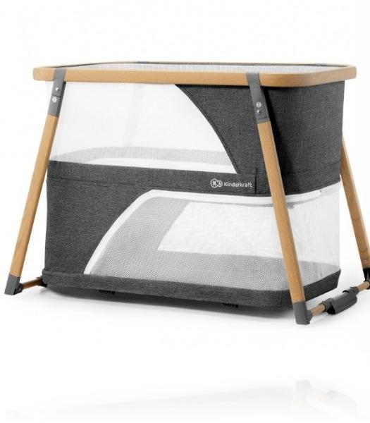 Ліжечко - манеж Kinderkraft SOFI колір Grey