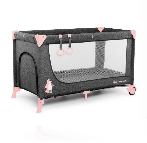 Ліжечко - манеж Kinderkraft JOY колір Pink