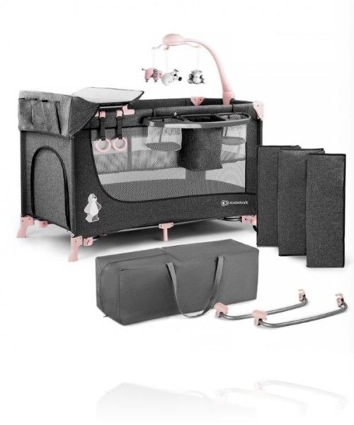 Ліжечко - манеж Kinderkraft JOY (з аксесуарами)  колір Pink