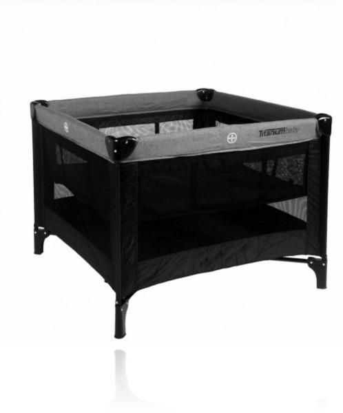 Манеж-ліжко TITANIUM BABY Foldable Playpen колір Black/Grey