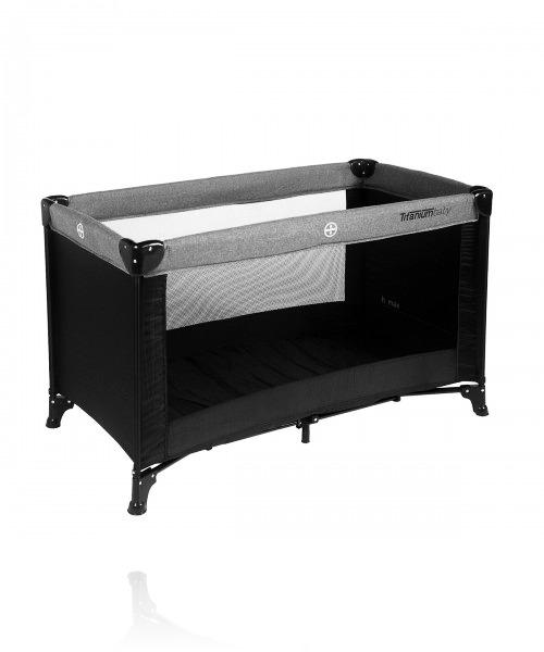 Манеж-ліжко TITANIUM BABY Playard Travelcot колір Black/Grey
