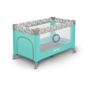 Кровать-манеж Lionelo Adriaa цвет TURQUOISE SCANDI