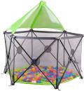 Манеж Lionelo Noor с шариками и крышей цвет Green