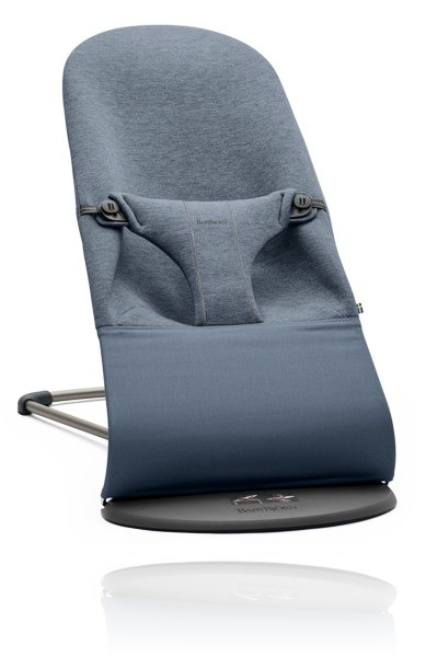 Шезлонг BabyBjorn Bliss 3D JERSEY колір Dove Blue