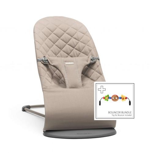 Шезлонг BabyBjorn Blіss Sand grey + Toy