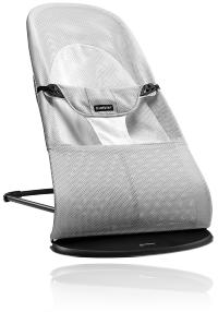Шезлонг BabyBjorn Balance Soft MESH 2019 колір SILVER / WHITE