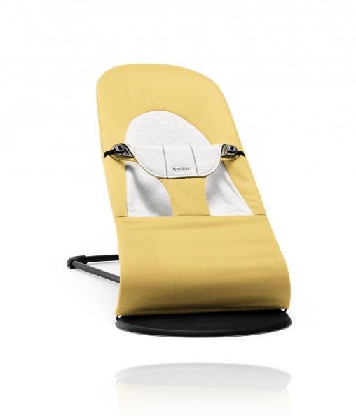 Шезлонг BabyBjorn Balance Soft COTTON/JERSEY Yellow/Grey