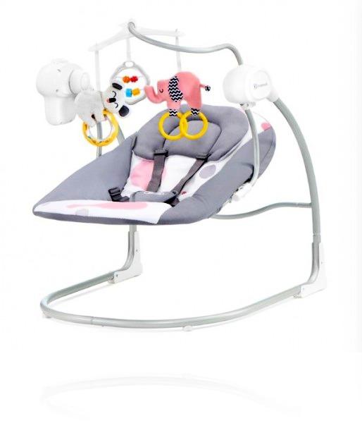 Шезлонг-качалка Kinderkraft MINKY колір PINK