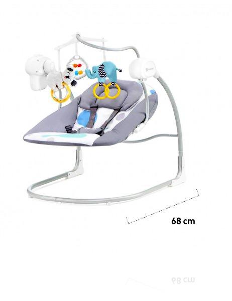Шезлонг-качалка Kinderkraft MINKY колір BLUE
