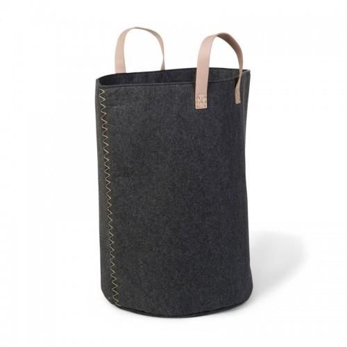 Childhome флисовая сумка 40 x 40 x 60 cm Anthracite / Gold с ручками