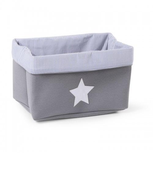 Ящик для игрушек Childhome CANVAS BOX 32x20x20  цвет Grey Stripes