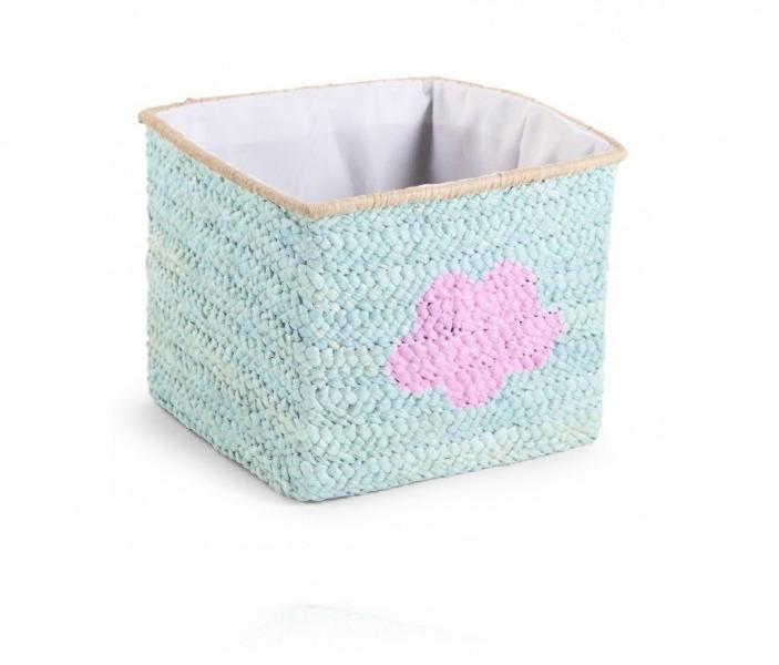 Корзина для игрушек Childhome Box Straw Woven цвет Mint star &Cloud