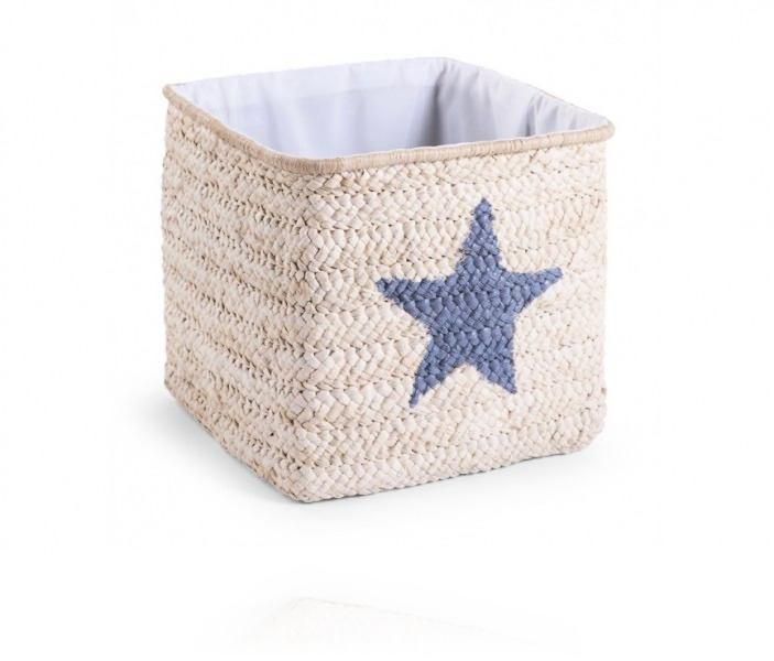 Корзина для игрушек Childhome Box Straw Woven цвет Natural star &Cloud