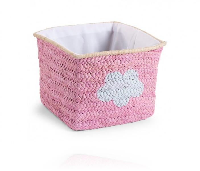 Корзина для игрушек Childhome Box Straw Woven цвет Pink star &Cloud