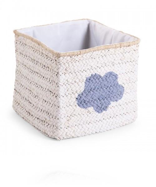 Корзина для игрушек Childhome Box Straw Woven цвет White star &Cloud