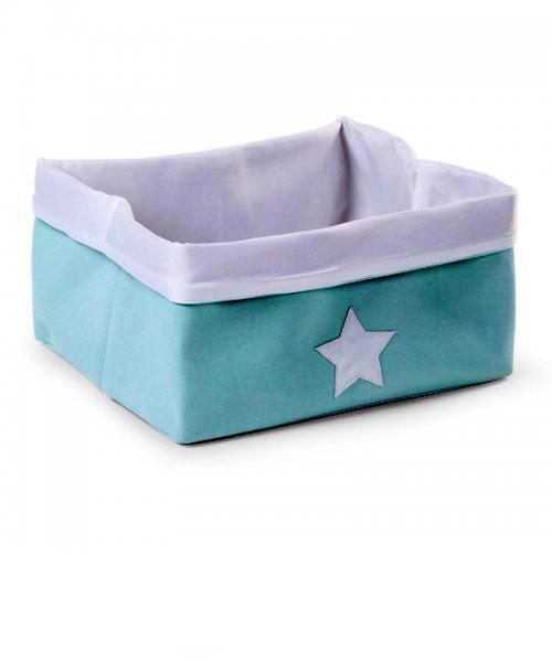 Ящик для игрушек Childhome CANVAS BOX 40X30X20 цвет MINT WHITE