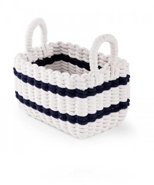 Плетеная корзина Childhome 32X20X20 цвет WHITE / NAVY