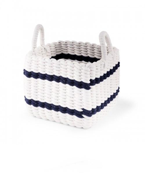 Плетеная корзина Childhome 32x32x29 цвет WHITE / NAVY