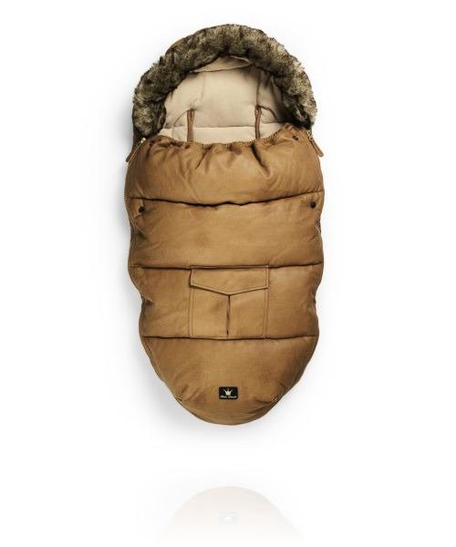 Зимний конверт Elodie Details с мехом цвет  Chestnut Leather