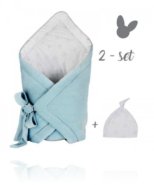 Набір конверт + шапочка Effiki колір blue