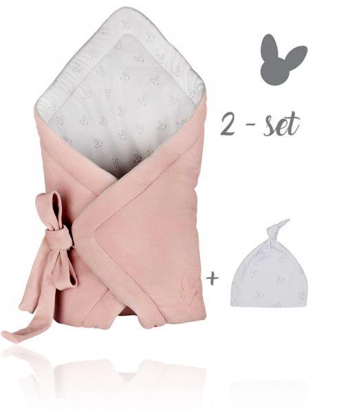 Набір конверт + шапочка Effiki колір pink