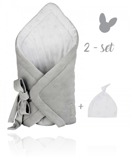 Набір конверт + шапочка Effiki колір grey