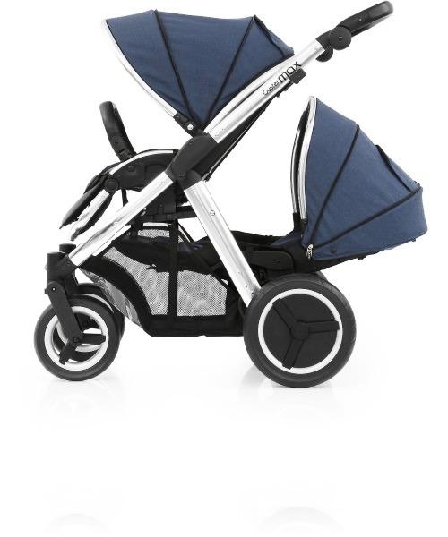 Прогулочная коляска для двоини Babystyle Oyster Max Oxford Blue шасси Silver