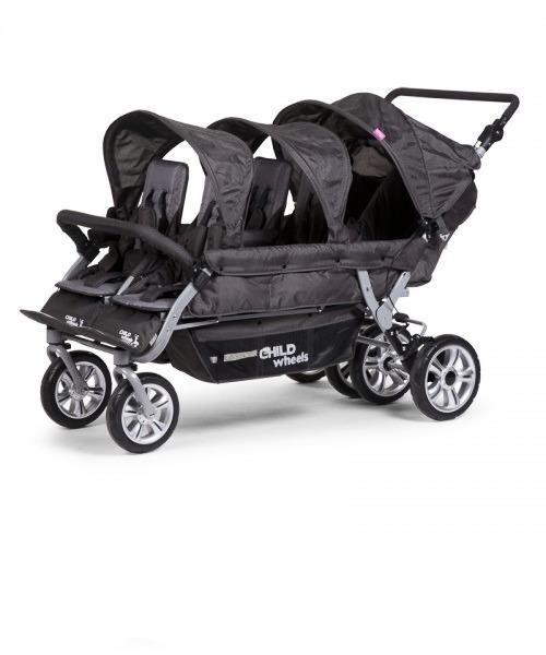 Прогулочная коляска Child Wheels Six Seater 2 цвет Anthracite