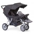 Прогулочная коляска для троини Childhome Triplet цвет Antraciet
