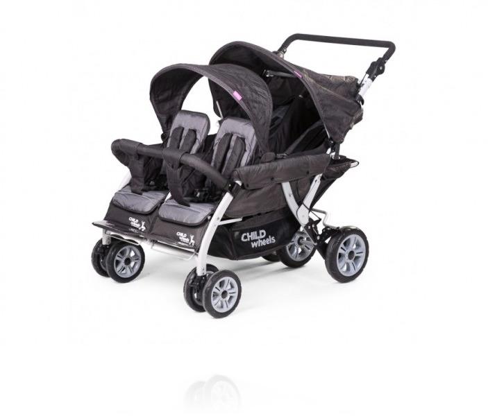 Прогулочная коляска Childhome Quadraple 2 Autobreak цвет Antraciet